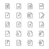 Dokumentet gör symboler tunnare Arkivbild