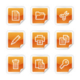 Dokumentieren Sie Web-Ikonen Lizenzfreies Stockbild
