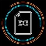 Dokumentsymbol för nedladdning EXE - vektormappformat royaltyfri illustrationer