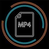 Dokumentsymbol för nedladdning MP4 - vektormappformat stock illustrationer