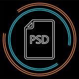Dokumentsymbol för nedladdning PSD - vektormappformat vektor illustrationer