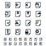Dokumentsymboler Arkivbild