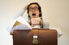 dokumentu biznesowy mężczyzna martwił się Zdjęcia Stock