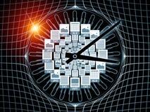 dokumentu czas ilustracja wektor