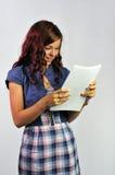 dokumentu dziewczyny niespodzianka zdjęcia royalty free
