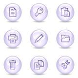 dokumentu glansowanych ikon perełkowa serii sieć Zdjęcie Stock