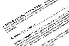 dokumentu podpis royalty ilustracja