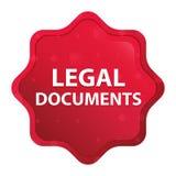 Dokumentu Prawnego starburst majcheru mglisty różany czerwony guzik ilustracja wektor