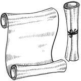 dokumentu pusty nakreślenie ilustracja wektor