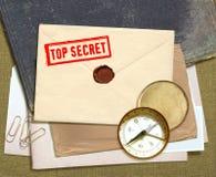 dokumentów sekretu wierzchołek Fotografia Royalty Free