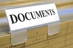 Dokumenty obrazy stock