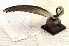 dokumenty ink starego garnek zdjęcia royalty free
