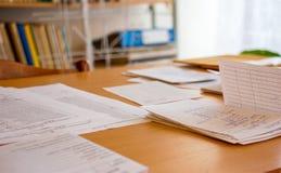 Dokumenty są na stole 2 Zdjęcie Stock