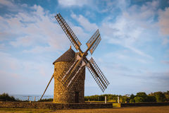 Dol de Bretagne windmill Brittany France Royalty Free Stock Images
