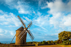 Dol de Bretagne windmill Brittany France Stock Photography