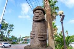 Dol hareubang -济州海岛,韩国的标志 免版税库存照片