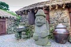Dol hareubang -济州海岛,韩国的标志 库存照片