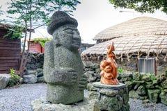 Dol hareubang -济州海岛,韩国的标志 免版税库存图片