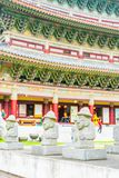 Dol Harubang at Yakcheonsa Temple in Jeju Island. South Korea Stock Photography