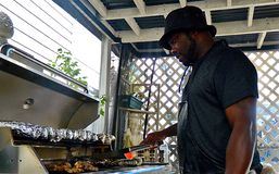 Dola the Grill Master Stock Images