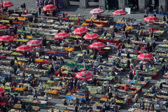 Dolac Market Zagreb, Croatia Stock Photo