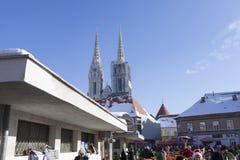 Dolac market in Zagreb. Croatia. Stock Images
