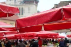 Dolac marknad, Zagreb Arkivfoto