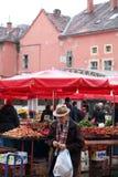 Dolac marknad, Zagreb Arkivbild
