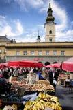 Dolac-Markt in Zagreb Lizenzfreie Stockfotos