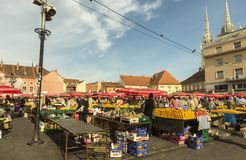 Dolac-Markt in Zagreb, Kroatien Lizenzfreie Stockfotos