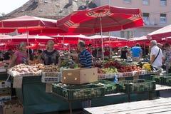 Dolac rynek w Zagreb, Chorwacja zdjęcia royalty free
