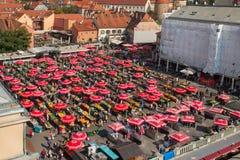 Dolac rynek, ZAGREB, CHORWACJA obraz royalty free
