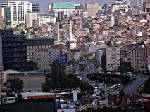 Dolapdere Taksim, Istanbuł miasta krajobraz obraz stock