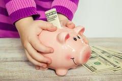 dolarów bankowych świnka Zdjęcie Royalty Free