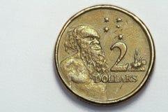 2 dolarów moneta Zdjęcia Stock
