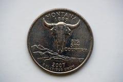 1/4 dolarów ` Waszyngton ćwiartki ` Montana Obraz Stock