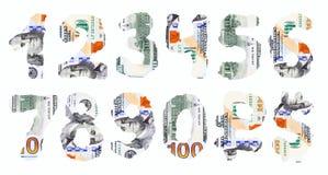 dolar amerykański liczby Fotografia Royalty Free