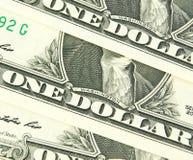 Dolar amerykański w makro- strzale Zdjęcie Royalty Free