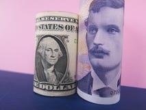 dolar amerykański i Norweski krone Obraz Royalty Free