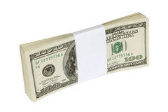 dolar banknotów sto Obrazy Royalty Free
