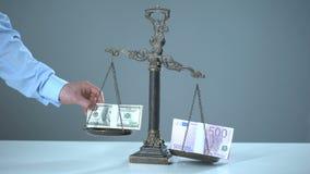 Dolar dominuje euro dalej waży, wekslowych temp pojęcie, rynku papierów wartościowych handel zbiory