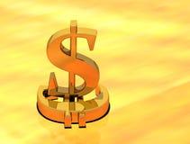 Dolar ed euro Immagini Stock Libere da Diritti