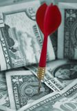 dolar finansowego celem nam pieniądze Fotografia Stock