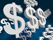 dolar fliying znak Zdjęcie Stock