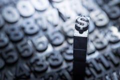 Dolar, funt, wymiana walut znak Zdjęcie Stock