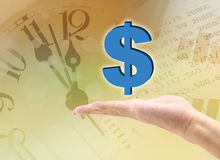 dolar in the hand Royalty Free Stock Image