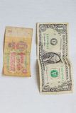 Dolar i rubel Fotografia Royalty Free