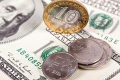 Dolar i rubel Obrazy Royalty Free