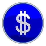 dolar ikona znak Obraz Stock