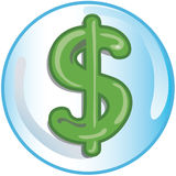 dolar ikona znak Zdjęcia Stock